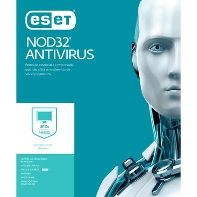 ESET Antivírus NOD32 3 PCs, 1 Ano - Digital para Download