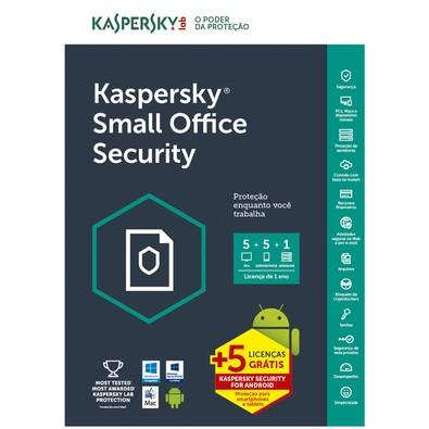 Kaspersky Small Office Security Multidispositivos 5 PCs + 5 Mobile + 1 Server Renovação - Digital para Download