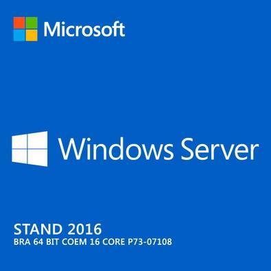 Microsoft Windows Server 2016 Standard 64 Bits P73-07108 COEM