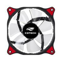Cooler Fan C3Tech Storm 12cm c/ LED Vermelho F7-L130RD