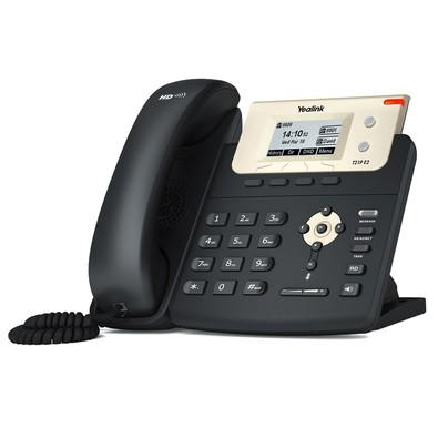 Telefone Yealink IP 2 Linhas e Voz HD SIP-T21P E2 Preto