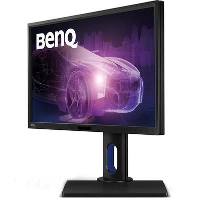 Monitor Benq LED 23.8´ Widescreen, QHD, IPS, HDMI/VGA/DVI, Som Integrado, Altura Ajustável - BL2420PT