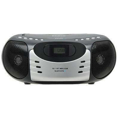 Rádio Portátil Philco, MP3, USB, Aux. e FM 5W Bluetooth Bivolt Preto/Prata - PB119BT 056603151