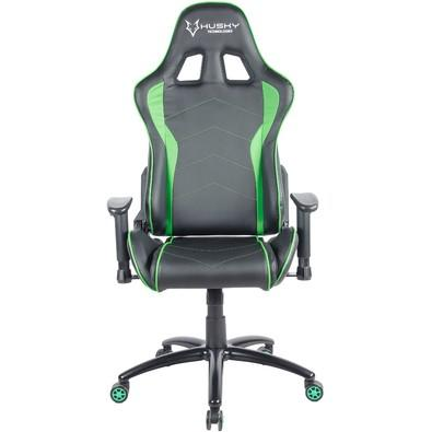 Cadeira Gamer Husky Storm, Black Green - HST-BG