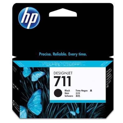 Cartucho de Tinta HP Designjet 711, Preto - CZ129A