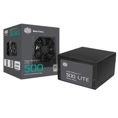 Fonte Cooler Master ATX 500W 80 Plus White MasterWatt Lite - MPX-5001-ACAAW-WO