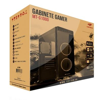 Gabinete C3Tech Gamer sem Fonte MT-G1000BK