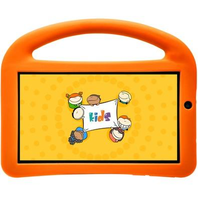 Tablet DL 7´, Quad Core A7, Android 7.1, 8GB, 1GB RAM, Bluetooth , WiFi com Capa Protetora Creative Kids - TX381BLJ Branco