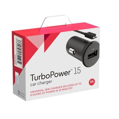 Carregador Veicular Motorola, Turbo Power 15W, Preto - AOM0449