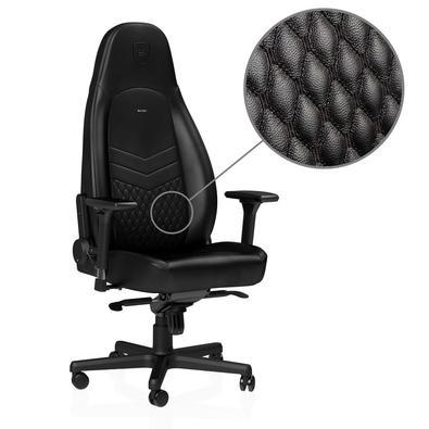 Cadeira Gamer Noblechairs ICON Leather, Black - NBL-ICN-RL-BLA
