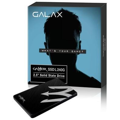 SSD Galax 2.5´ 240GB GAMER SATA III Leituras: 520MBs / Gravações: 500 MBs - TIAA1D4M4BG49CNSBCYDXN