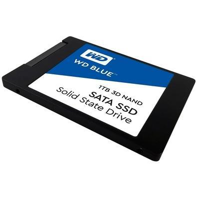 SSD WD Blue 1TB, SATA, Leitura 560MB/s, Gravação 530MB/s - WDS100T2B0A