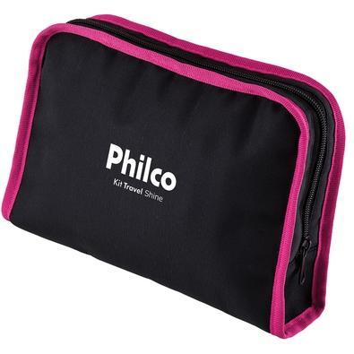 Kit Secador e Prancha Alisadora Philco Travel Shine, 1000W/750W, Bivolt - 51503045