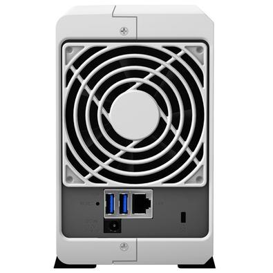 Storage Synology NAS DiskStation Marvell Armada 385 Dual Core 1.3GHz 512MB DDR3 -  Torre 2 Baias Sem Disco - DS218J