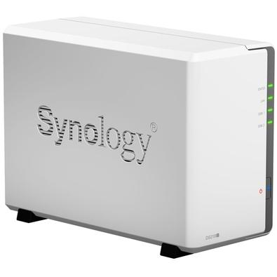 Storage Synology NAS DiskStation Marvell Armada 385 Dual Core 1.3GHz 512MB DDR3 -  Torre 2 Baias Sem Disco - DS218J