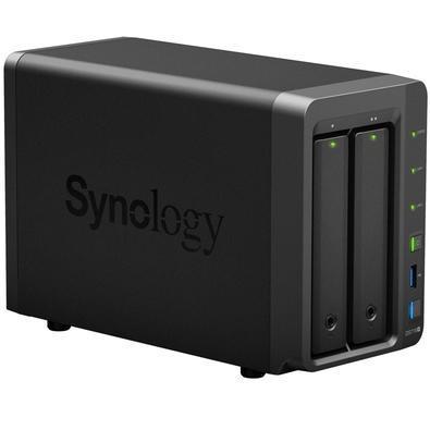 Storage Synology NAS DiskStation Intel Celeron J3455 Quad Core 1.5GHz 2GB DDR3L - Torre 2 Baias Sem Disco - DS718+