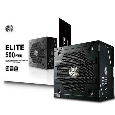 Fonte Cooler Master 500W Elite V3 - MPW-5001-ACAAN1