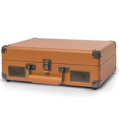 Toca Discos Vitrola Raveo Sonetto - MP3, USB Reproduz e Grava, Aux. 10W RMS Caramelo