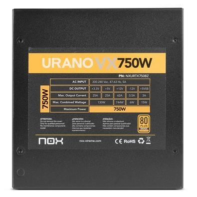 Fonte Nox Urano, 750W, 80 Plus Bronze, 230V - NXURVX750BZ