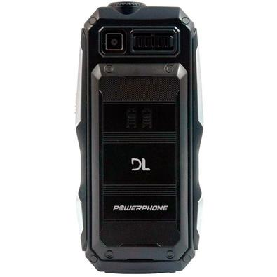 Celular DL PW020 PowerPhone, Função Power Bank, Lanterna, Tela 2´, Radio FM, Memória Expansível 32GB, Desbloqueado, Dual Chip - Preto