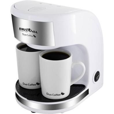 Cafeteira Elétrica Britânia Duo Coffee 2 Xícaras 450W Branca - 110V