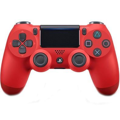 Controle Sony Dualshock 4 PS4, Sem Fio, Magma Vermelho CUH-ZCT2U