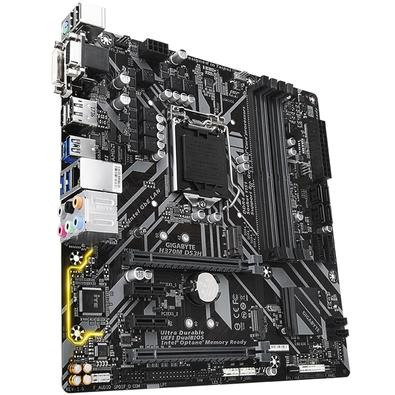 Placa-Mãe GIGABYTE p/ Intel LGA 1151 mATX H370M DS3H DDR4