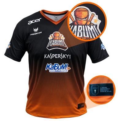 Camiseta Uniforme Oficial KaBuM! e-Sports 2018, Orange Ninja, Dry-Fit, Tamanho GG