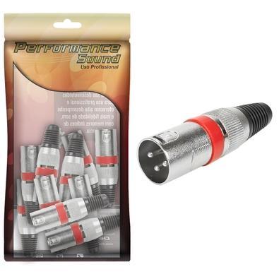 Plug Performance Sound Cannon Ring, Macho Profissional, Vermelho - 062-6874
