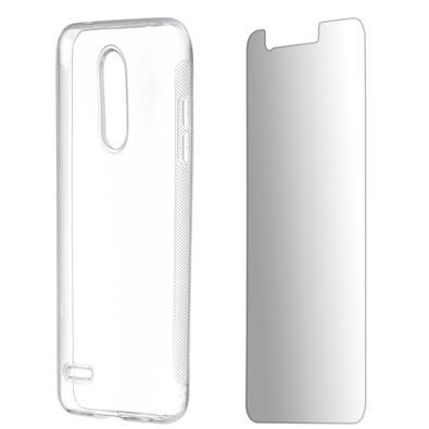 Kit 2 em 1 Celular Mart - Película de Vidro e Capa TPU Transparente Liso para LG K11 Plus
