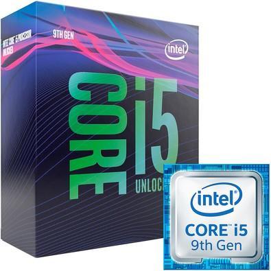 Processador Intel Core i5-9600k Coffee Lake refresh 9a Geração, Cache 9MB, 3.7GHz (4.6GHz Max Turbo), LGA 1151 - BX80684I59600K