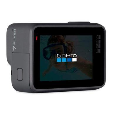 Câmera de Ação GoPro Hero 7, 4K, WiFi/HDMI, Controle por Voz, GPS, Prata - CHDHC-601-RW