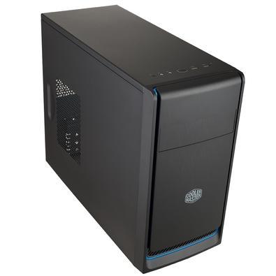 Gabinete Gamer Cooler Master MasterBox E300L sem Fonte, Mini Tower, USB 3.0, Preto e Azul - MCB-E300L-KN5N-B01