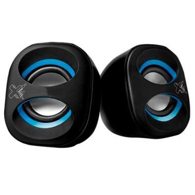Caixa de Som Maxprint Sound Mix, USB, 5V, Preto e Azul - 6013303