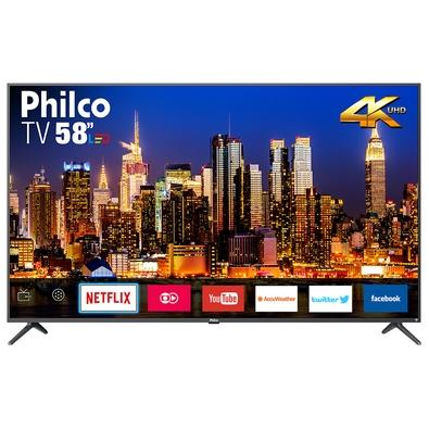 Smart TV LED 58´ 4K Philco, 3 HDMI, 2 USB, Wi-fi - PTV58F60SN