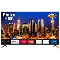 Smart TV LED 58´ UHD 4K Philco, Conversor Digital, 3 HDMI, 2 USB, Wi-Fi, HDR - PTV58F60SN