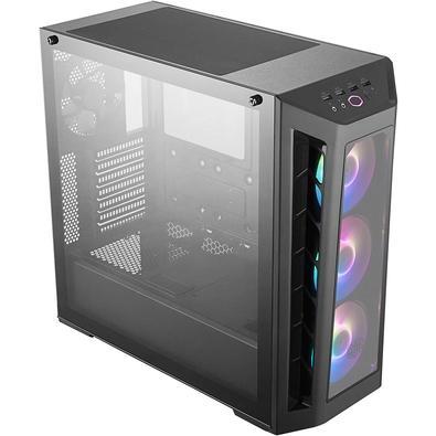 Gabinete Gamer Cooler Master MasterBox MB530P, RGB, 4 Coolers, Lateral e Frontal em Vidro - MCB-B530P-KHNN-S01
