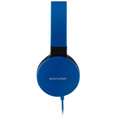Headphone Multilaser New Fun Wired, P2, Azul - PH272