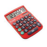Calculadora De Mesa 8 Dígitos Mv-4131 Vermelha