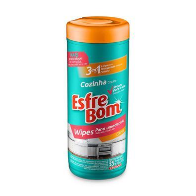 Tubo Wipes para Cozinha Esfrebom Panos Umedecidos 35 Unidades Bettanin