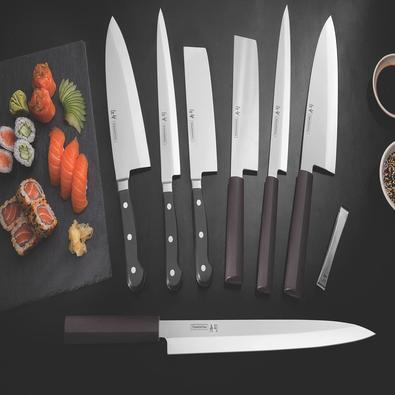 Faca Yanagiba Tramontina Sushi com Lâmina em Aço Inox e Cabo de Nylon 9
