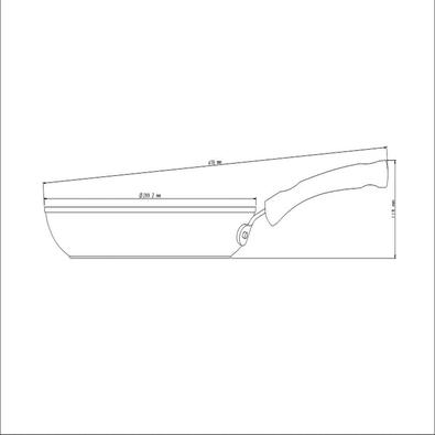 Frigideira Tramontina Profissional Alumínio Acabamento Lixado Antiaderente Starflon 28cm 2,4 L Tramontina