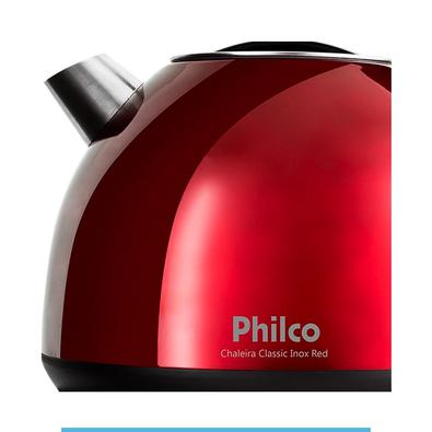 Chaleira Elétrica Philco Classic Inox Red 127V