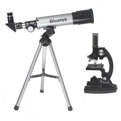Kit Telescópio Refrator Altazimultal 50mm + Microscópio 300x 600x 1200x XWJ - Blutek