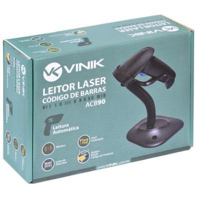 Leitor de Código de Barras Vinik Laser ACB90 3 em 1 Leitura Automática