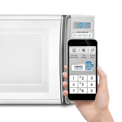 Micro-Ondas Electrolux, Branco, 27L, 55 Receitas pré-programadas no Menu Online, 220V - MB37R
