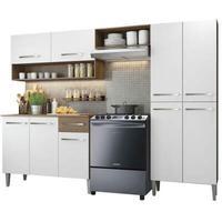Cozinha Compacta Madesa, Emilly Pop, Com Armário e Balcão, Branco/Rustic
