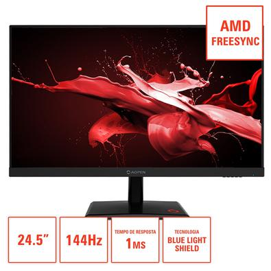 Monitor Gamer Acer Aopen, 1ms, 144hz, FreeSync, FHD, 24.5