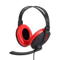Headset Gamer Bright Super Bass, haste regulável, vermelho e preto - 206