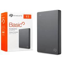 "HD Externo 1TB Seagate Basic Preto Slim 2.5"" USB3.0 Portatil - STJL1000400"
